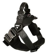 Fusion Pets Trekker Police K9 Ergonomic Dog Harness Canine Black