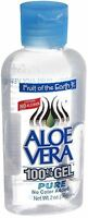Fruit of the Earth Aloe Vera 100% Gel 2 oz (Pack of 2)