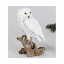 Eule 22 cm weiß Winterzeit Dekofigur Vögel Weihnachtsdeko Tiere 731432 formano