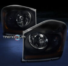 2004-2005 DODGE DURANGO CRYSTAL STYLE HEADLIGHTS LAMPS BLACK/SMOKE REPLACEMENT