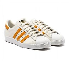 ADIDAS ORIGINALS SUPERSTAR 80's MEN'S SHOES SIZE US 10 OFF WHITE ORANGE S75842