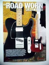 PUBLICITE-ADVERTISING :  Guitares FENDER Road Worn Player Series  03/2011