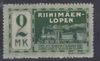 Finland Riihimäki / Loppi private Railway train locomotive MINT stamp 2 MK