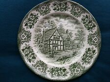 Staffordshire Ironstone Plate OLD INNS SERIES/Cottage Rustic