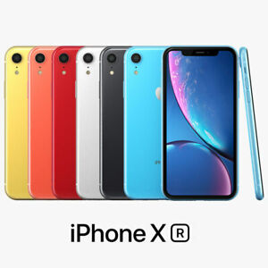 Apple iPhone XR 64GB 4G LTE (T-Mobile/Metro/Ultra/Mint) Phone + 1-Year Warranty