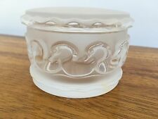 Lalique Crystal Covered Box~Canards~Swans~Ducks~Signed~Authentic~Mint MSRP $690
