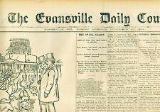 Newspaper Harden Hand Grenade Fire Extinguisher Ad Prickly Ash Evansville1884