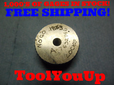 .1863 SMOOTH BORE RING GAGE .1875 - .0012 UNDERSIZE 3/16 TOOLING INSPECTION