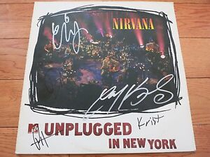 NIRVANA SIGNED WHITE VINYL LP BY 5 COA + PROOF! DAVE GROHL KRIST NOVOSELIC FOOS