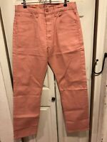 NWT Men's Levi's 501 Raw Denim Pink Salmon Shrink To Fit RARE Size 34 x 34