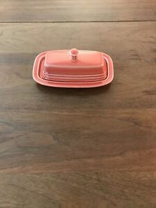 Homer Laughlin Fiesta Butter Dish Flamingo