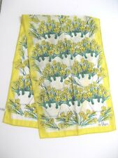 VERA SCARF YELLOW FLOWERS Made in Japan Vintage 1960's