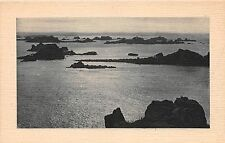 ILE DE BREHAT FRANCE LES ROCHERS DE KERPONT AU COUCHER DU SOLEIL PHOTO POSTCARD