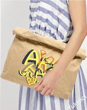 LANVIN en Bleu Japan Made Fashion Clutch Bag Pop Art Fair Series-Beige-NWT