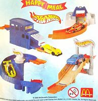 McDonalds Happy Meal Toy 2002 Hot Wheels Car + Structure Toys - Various