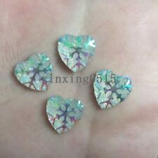 40pcs Resin AB color snowflake Hlaf Heart/FlatBack Appliques/Christmas DIY -C196