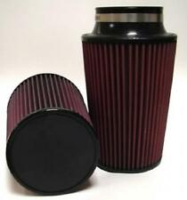 """High Performance Conical Air Filter 3"""" Flange, 8"""" Length, 5.87"""" Base, Red Oil"""