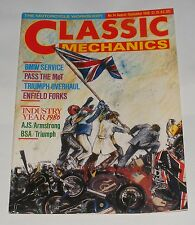 CLASSIC MECHANICS AUGUST/SEPTEMBER 1986 ISSUE NO.14 - BMW SERVICE/ENFIELD FORKS