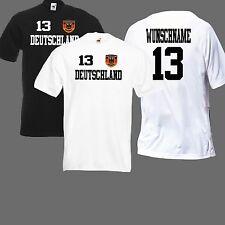 Deutschland Kindertrikot,Shirt mit Wunschname+Wunschnummer Wappen gestickt