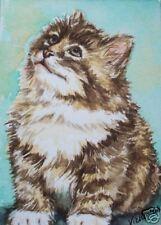 Sweet Baby Kitten Kitty Cat  O/E Print   ACEO by Vicki