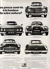 PUBLICITE 1968 UNIROYAL Vos pneus sont ils à la Hauteur
