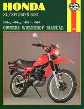 Haynes Manual 0567 - Honda XL250, XL500, XR250, XR500 78-84 workshop/service