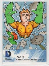 DC Comics New 52 Hand Drawn Artist Sketch Aquaman by Chad Cicconi 1/1