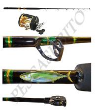 kit canna traina big game drifting tonno 30-60lb + mulinello mak pesca stand up