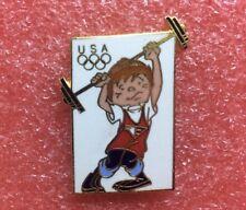 Pins USA TEAM MASCOT HALTÉROPHILIE Jeux Olympique J.O JO OG O.G Olympic Games