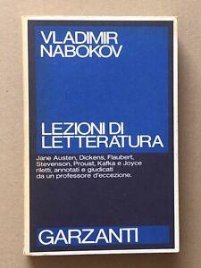 NABOKOV - LEZIONI DI LETTERATURA - 1A EDIZ. GARZANTI 1982
