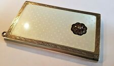 More details for guilloche enamel sterling silver art deco antique cigarette card case ref:xeod