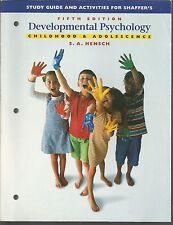 Developmental Psychology Childhood & Adolescence Fifth Edition Study Guide 1999