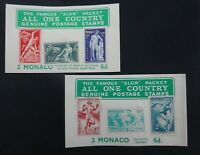 Monaco mint stamps.   2 Collectors packet by XLCR