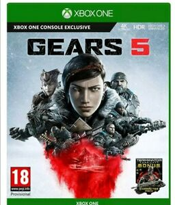 Gears 5 v Xbox One of war new & sealed uk fast post game Microsoft
