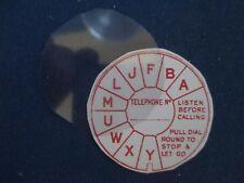 RED Dial Label & Flat Acetate Disc - Vintage Bakelite & Wooden Telephones NEW