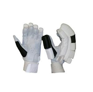 CRICKET BATTING GLOVES PLAIN BLACK & WHITE LIMITED ADDITION (MENS RIGHT HAND)