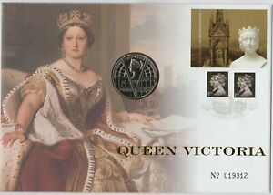 2001 QUEEN VICTORIA  £5 CROWN STAMP COVER SET IN NEAR MINT CONDITION.
