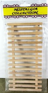 12th Scale (DIY124) Dolls House, wooden pale fence panel by Streets Ahead - (c)