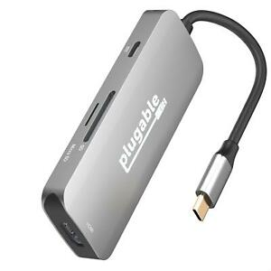 Plugable USB C Hub Multiport Adapter, 7-in-1 Hub