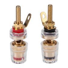 2pcs 4mm Gold Plated Brass Amplifier Speaker Terminal Binding Post Banana Plug