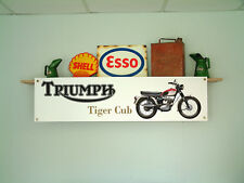 TRIUMPH Tiger Cub Banner Moto Garage Officina flessibile in PVC sign T20