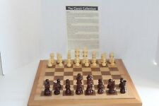 VTG The Classic Collection Wooden Chess Board with Wood Pieces Chessmen Complete