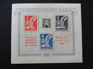 Tschechoslowakei Ceskoslovensko Block 6 Benes **Postfrisch