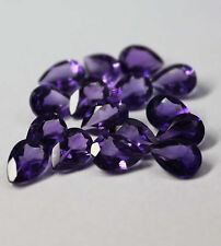 Natural Amethyst 4x6mm Pear Cut 50 Pieces Top Quality AA Color Loose Gemstone AU