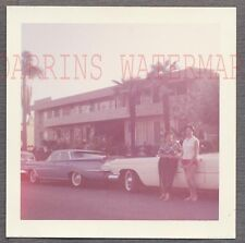 Vintage Car Photo 1959 Oldsmobile & 1960 Cadillac Automobiles on Roadside 740785