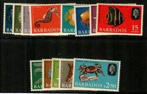 Barbados Scott 267-80 Mint NH (Catalog Value $18.50)
