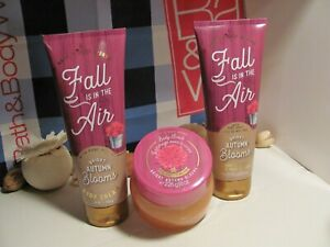 Bath and Body Works 3 ~ Fall Is In The Air ~ Bright Autumn Blooms Cream & Scrub