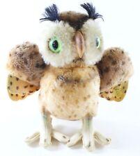 "Vintage Steiff 262/22 Wittie Owl Standing 9"" Tall W/ Button ca 1960s HTF"