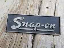 Vintage Snap-On Toolbox Emblem Nameplate Script Tool Box Chest Cart