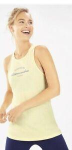 fabletics Alma Tank top racer back vest gym yoga top Light Pear XS UK 8 NEW